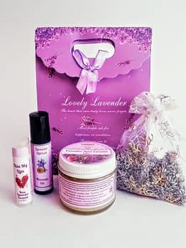 Organic Lavender Rose Coconut Spa Kit