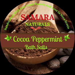 "Cocoa Peppermint ""Energizing"" Bath Salts"